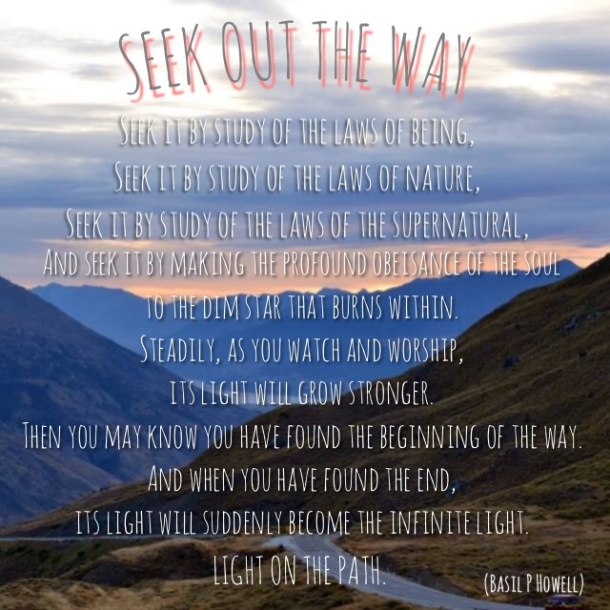 Seek Out The Way