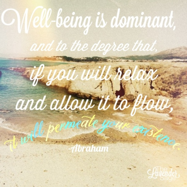 Quote about well-being from Abraham