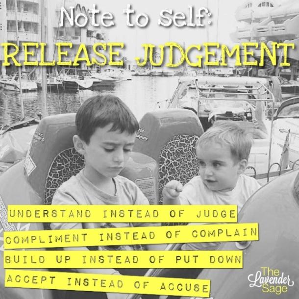 Reminder to be non-judgemental