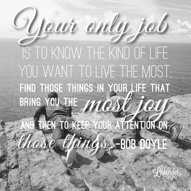 Quote about living a joyful life