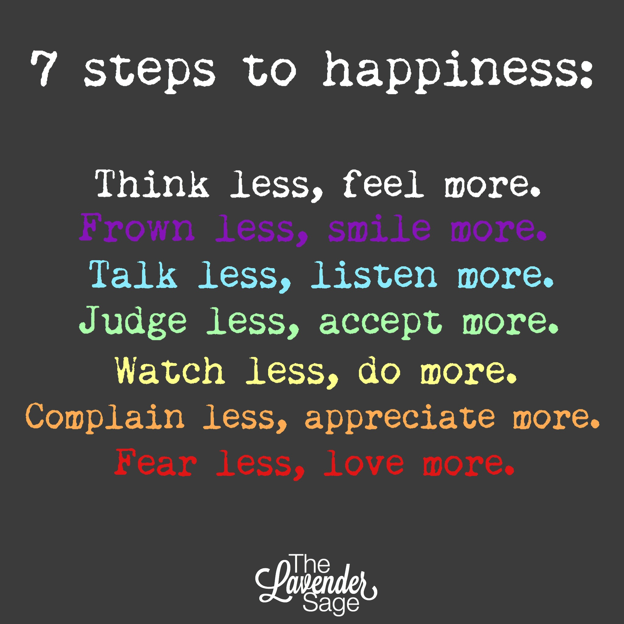 Superb 7 Steps To Happiness