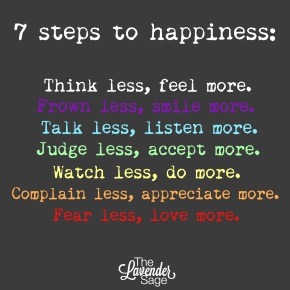 Seven Steps toHappiness